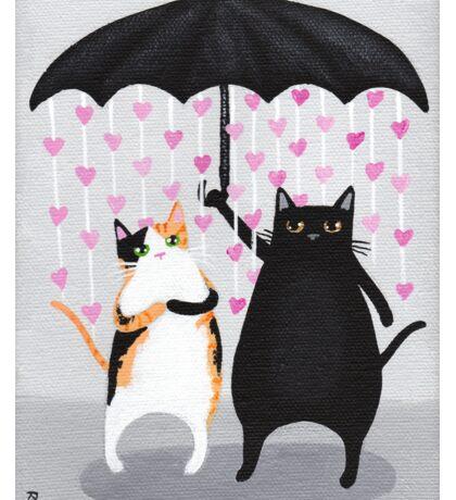 Love Rains Down Cats Sticker