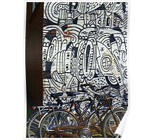 Two bikes at Rotterdam Poster