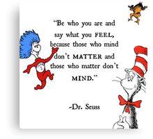 Dr Seuss quote Canvas Print
