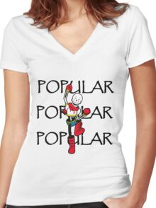 Undertale Papyrus Popular Women's Fitted V-Neck T-Shirt