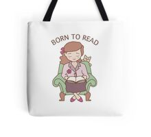 Born to Read Girl with Cat Tote Bag