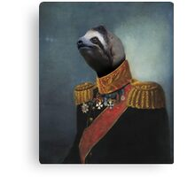General Sloth Canvas Print