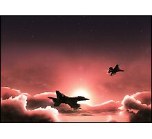 Fly Navy Photographic Print