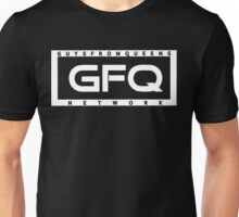 GFQ Network - Stamp White Logo Unisex T-Shirt