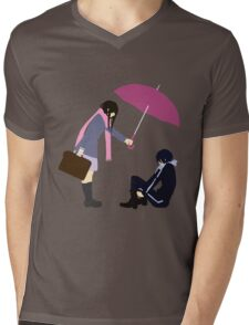 Yato x Hiyori minimalist Mens V-Neck T-Shirt