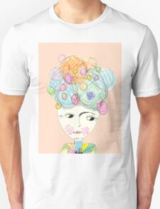 Madame Moonage - a tribute to David Bowie (peach) Unisex T-Shirt