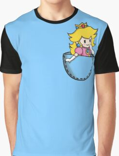 Pocket Peach Graphic T-Shirt