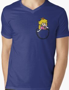 Pocket Peach Mens V-Neck T-Shirt