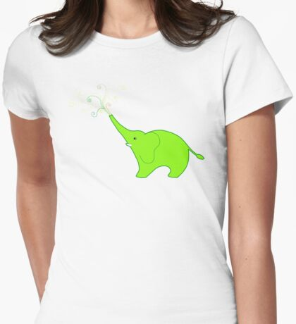 Little Squirt green Womens Fitted T-Shirt