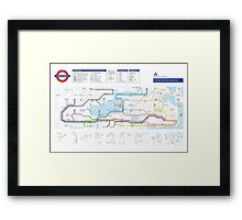 Overworld Underground - The Legend of Zelda - NES Maps Series Framed Print