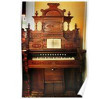Victorian Parlor Organ Poster