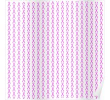 Pink Ribbon with Heart Poster