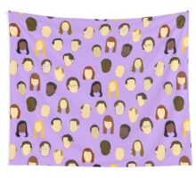 The Office Heads - Custom Lt Purple/Lavender Wall Tapestry