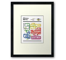 Metroid Metro - NES Maps Series Framed Print