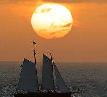 Sailboat Sunset by William C. Gladish