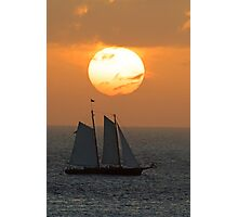 Sailboat Sunset Photographic Print