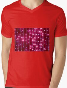 Defocused and blurred image of a bright red wall Mens V-Neck T-Shirt
