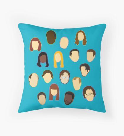 The Office Heads - Custom Teal Throw Pillow