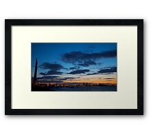 Poolbeg Chimneys & Dublin Port - Dublin, Ireland Framed Print