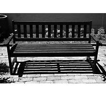 Garden Seat Photographic Print