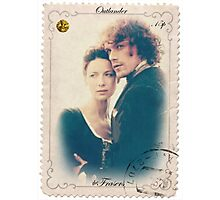 Outlander/Jamie and Claire Fraser stamp Photographic Print