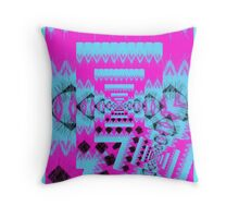 Feedback in blue and pink Throw Pillow