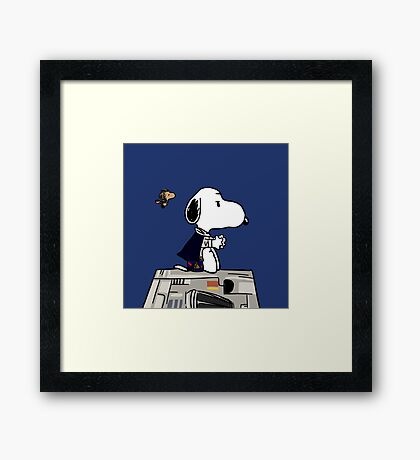 Snoopy Han Solo Framed Print