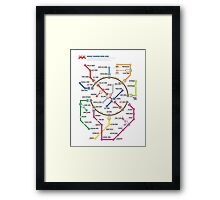 Maniac Mansion - NES Maps Series Framed Print