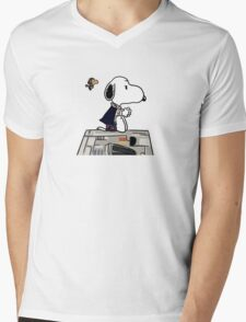 Snoopy Han Solo Mens V-Neck T-Shirt