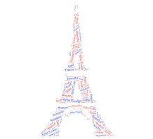 Eiffel Tower word cloud by HappyB
