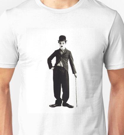 Charlie Chaplin Portrait Black and White Unisex T-Shirt