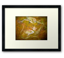Happy Accident Luminous Ghost Fish Painting - Section 3 Framed Print