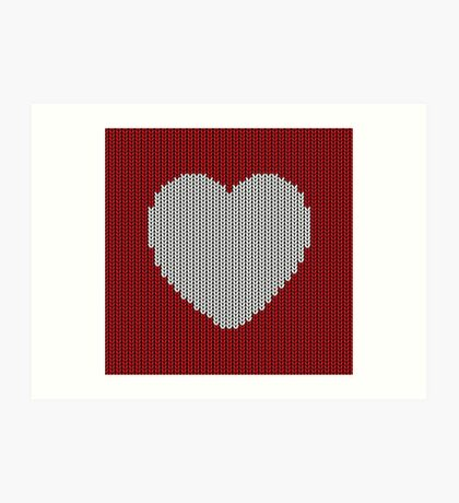 Wool Heart Art Print