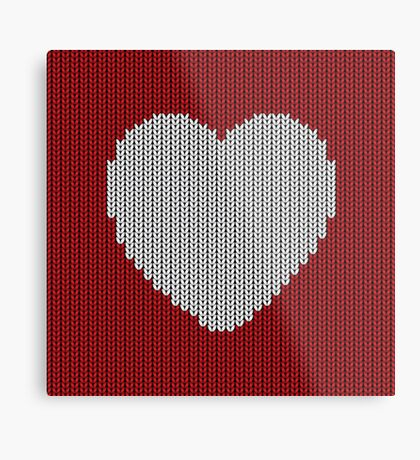 Wool Heart Metal Print