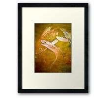 Happy Accident Luminous Ghost Fish Painting - Section 2 Framed Print