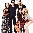 The Vampire Diaries Cast by Dowser Dhaw