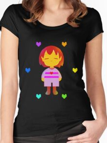 Frisk Hearts (Red Version) Women's Fitted Scoop T-Shirt