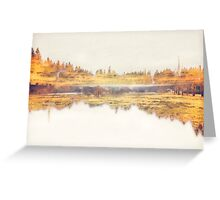 White and Gold Landscape Greeting Card