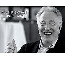 Alan Rickman - RIP Photographic Print
