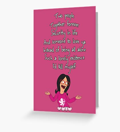 Linda's Song of Love Greeting Card