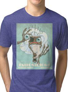 Skeletal Needles: Paleontology Tri-blend T-Shirt