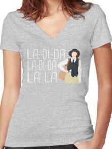 La-Di-Da Annie Hall Women's Fitted V-Neck T-Shirt