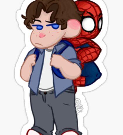 spider-man/peter parker sticker Sticker