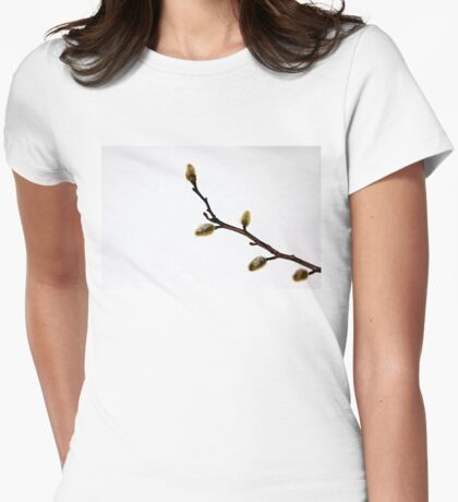Magnolia Buds Womens Fitted T-Shirt