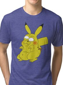 Retarded Pikachu - Pokémon Tri-blend T-Shirt