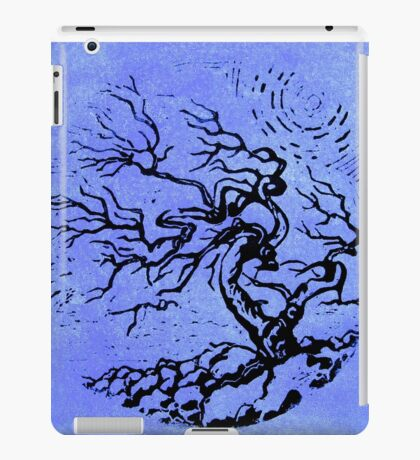 Old and Ancient Tree - Blue  iPad Case/Skin