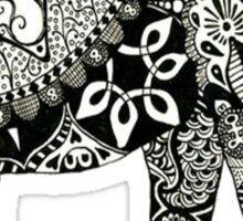 Boho Elephant - Black & White Sticker
