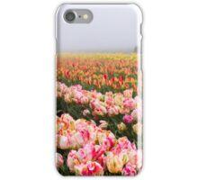 Pink tulips and tractor iPhone Case/Skin