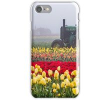 Yellow tulips and tractors iPhone Case/Skin