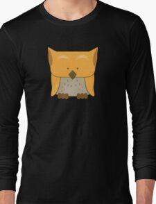 So cute Owl in orange Long Sleeve T-Shirt